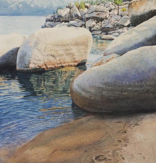 Lisa-Jefferson,watercolors,Rocky-Reflections, watercolor,landscape,Lake-Tahoe