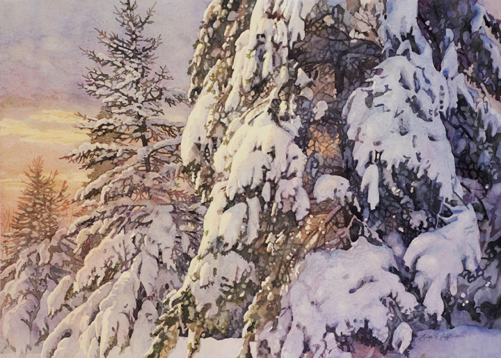 Lisa-Jefferson,watercolors,Winter-At-Dusk,watercolor