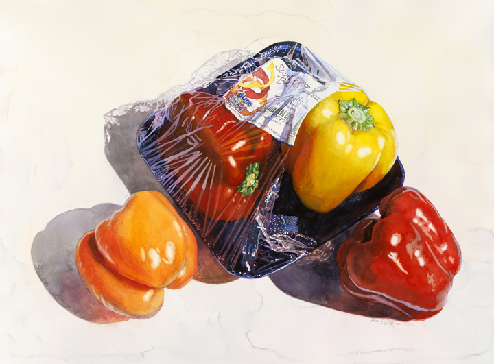 Lisa-Jefferson,watercolors,Wrapped-Peppers,watercolor