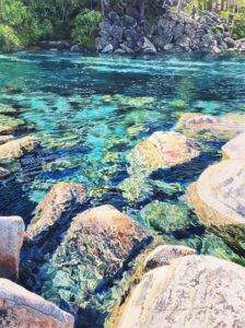 rocks in the clear water